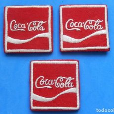 Coleccionismo de Coca-Cola y Pepsi: TRES PARCHES / ESCUDOS. COCA COLA. BORDADOS.. Lote 91090070