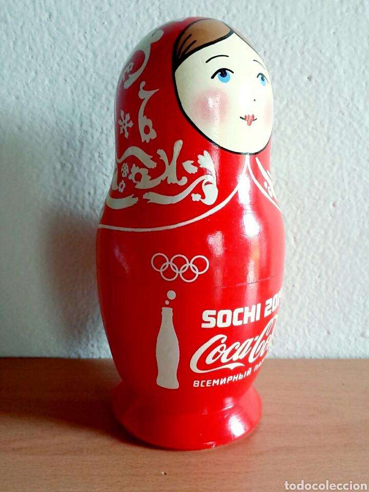 Coleccionismo de Coca-Cola y Pepsi: Muñeca rusa Matrioshka publicidad Coca-Cola Juegos de invierno Sochi 2014 Rusia - Coke Cocacola - Foto 2 - 91455724