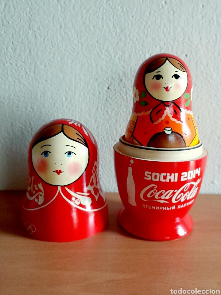 Coleccionismo de Coca-Cola y Pepsi: Muñeca rusa Matrioshka publicidad Coca-Cola Juegos de invierno Sochi 2014 Rusia - Coke Cocacola - Foto 4 - 91455724