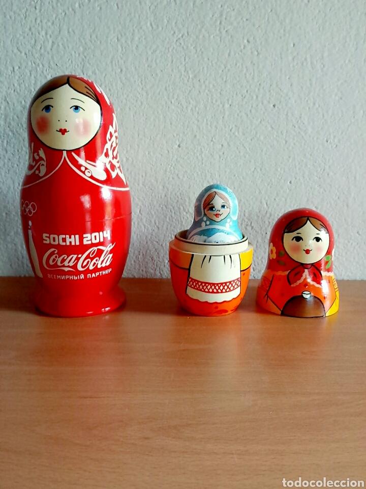 Coleccionismo de Coca-Cola y Pepsi: Muñeca rusa Matrioshka publicidad Coca-Cola Juegos de invierno Sochi 2014 Rusia - Coke Cocacola - Foto 5 - 91455724