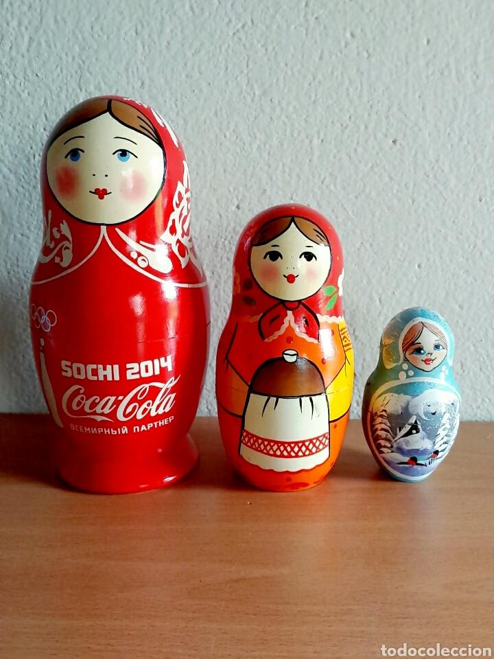 Coleccionismo de Coca-Cola y Pepsi: Muñeca rusa Matrioshka publicidad Coca-Cola Juegos de invierno Sochi 2014 Rusia - Coke Cocacola - Foto 6 - 91455724