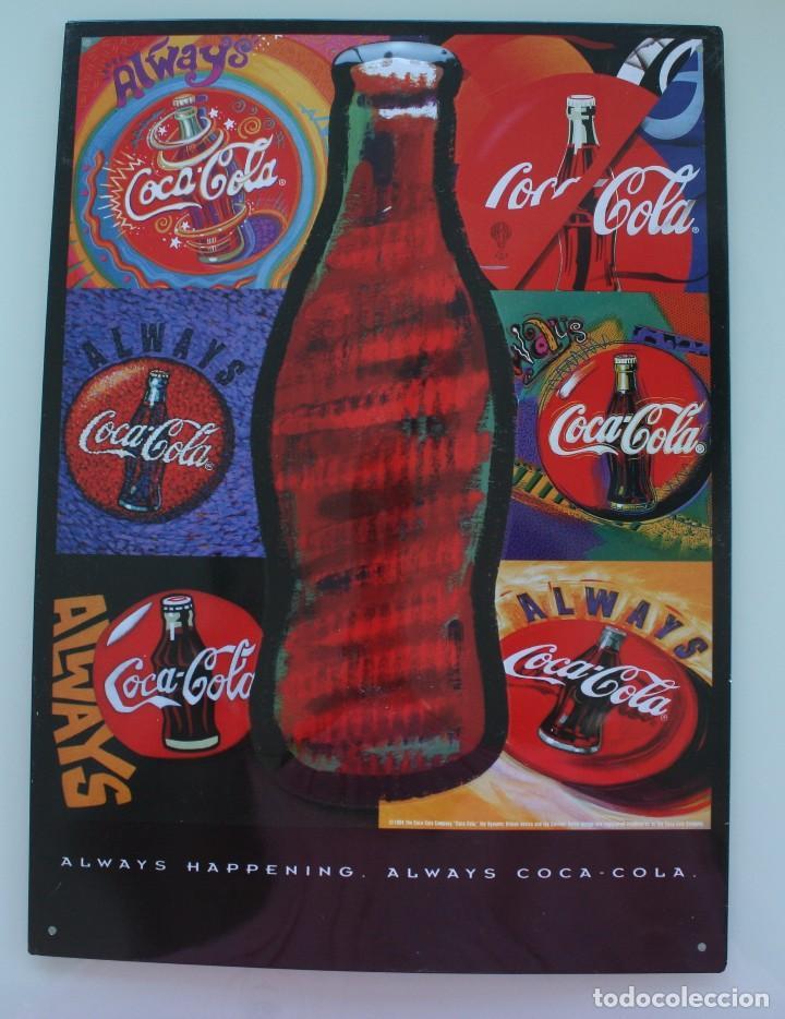 Chapa replica reproduccion de antiguo anuncio p comprar - Chapa coca cola pared ...