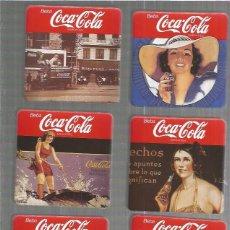 Coleccionismo de Coca-Cola y Pepsi: COCA COLA PACK 6 POSAVASOS VINTAGE. Lote 92057380