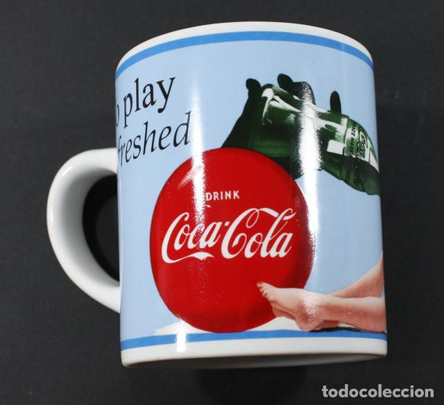 Coleccionismo de Coca-Cola y Pepsi: BONITA TAZA VINTAGE COCA COLA 10 CM ALTO, PRODUCTO OFICIAL COCACOLA VASO - Foto 2 - 92092000