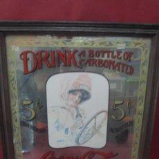 Coleccionismo de Coca-Cola y Pepsi: MAGNIFICO UNICO CARTEL ANTIGUO ESPEJO DE COCA COLA UNICO EN TODOCOLECCION. Lote 92116130