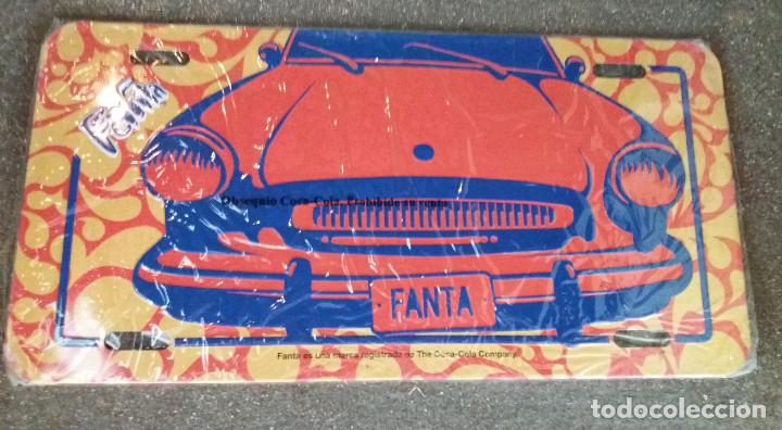 COCA COLA FANTA CARTEL METALICO DE PROPAGANDA (Coleccionismo - Botellas y Bebidas - Coca-Cola y Pepsi)