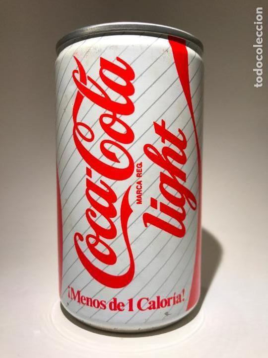 antigua lata bote de coca cola light española - comprar