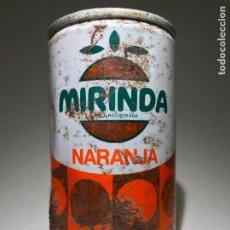 Coleccionismo de Coca-Cola y Pepsi: ANTIGUA LATA DE MIRINDA NARANJA,FIRMADA ALVAREZ 26/10/81. Lote 92991720