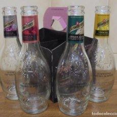 Coleccionismo de Coca-Cola y Pepsi: LOTE DE 4 BOTELLAS DE TONICA Y GINGER ALE SCHWEPPES DISTINTAS. VACIAS Y SIN CHAPA. . Lote 93699070