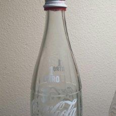 Coleccionismo de Coca-Cola y Pepsi: BOTELLA ANTIGUA COCA-COLA AÑO 91 TAPON ORIGINAL. Lote 93842404