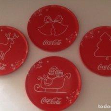 Coleccionismo de Coca-Cola y Pepsi: POSAVASOS COCA COLA MOTIVOS NAVIDEÑOS. Lote 94391151
