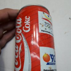 Coleccionismo de Coca-Cola y Pepsi: LATA BOTE ANTIGUO COCACOLA EXPO 92. Lote 193909377