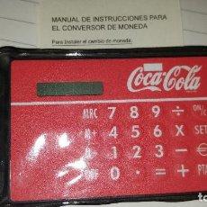 Coleccionismo de Coca-Cola y Pepsi: CALCULADORA DIGITAL DE COCA COLA - CONVERSOR DE EURO A PESETAS. Lote 95584379