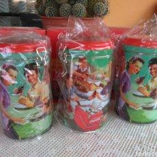 Coleccionismo de Coca-Cola y Pepsi: **LOTE DE 3 BOTES HERMETICOS DE COCA-COLA, NUEVOS EN SU CAJA**. Lote 95675028