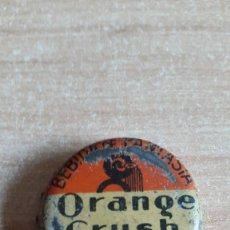 Coleccionismo de Coca-Cola y Pepsi: ANTIGUA CHAPA - TAPON CORONA - ORANGE CRUSH (BILBAO) - BEBIDA DE FANTASIA - CON CORCHO - VER FOTOS. Lote 95698779