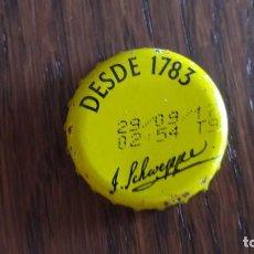 Coleccionismo de Coca-Cola y Pepsi: CHAPA DE TÓNICA SCHWEPPES. Lote 95832051