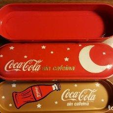 Coleccionismo de Coca-Cola y Pepsi: PLUMIER DE 3 PIEZAS DE COCA COLA. Lote 96003647