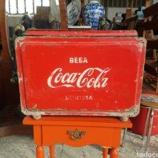 Coleccionismo de Coca-Cola y Pepsi: ANTIGUA NEVERA DE COCACOLA, ORIGINAL. DIFICIL DE VER.. Lote 96174484