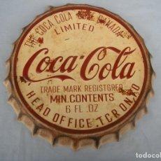 Coleccionismo de Coca-Cola y Pepsi: CHAPA DE COCA-COLA 35 CM.. Lote 105775759