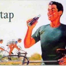 Coleccionismo de Coca-Cola y Pepsi: CARTEL CLASICO METALICO COCA COLA OP STAP 30 CM. X 16 CM.. Lote 96872363
