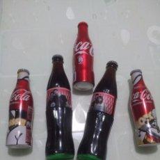 Coleccionismo de Coca-Cola y Pepsi: 5 BOTELLAS DE COCACOLA. Lote 97067007