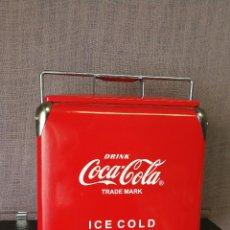 Coleccionismo de Coca-Cola y Pepsi: NEVERA COCA COLA METALICA TIPO VINTAGE. Lote 97474059