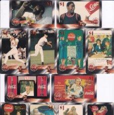 Coleccionismo de Coca-Cola y Pepsi: SERIE COMPLETA DE 48 TARJETAS DE ESTADOS UNIDOS DE COCA-COLA (NUEVAS) MUJER-WOMAN-VINTAGE. Lote 97729403