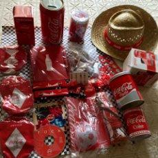 Coleccionismo de Coca-Cola y Pepsi: LOTE COLECCIÓN COCACOLA 16 OBJETOS. Lote 97938624