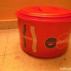 Coleccionismo de Coca-Cola y Pepsi: HIELERA CUBITERA COCA COLA 3 PIEZAS PLASTICO TAPA ESCURRIDOR. Lote 98225535