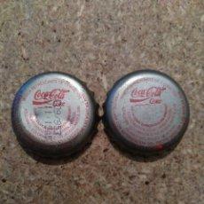 Coleccionismo de Coca-Cola y Pepsi: CHAPAS. TAPON CORONA. COCA-COLA. FABRICANTES TCI Y E, LAS DOS DE ALICANTE. NO CERVEZA.. Lote 98374427