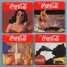 Coleccionismo de Coca-Cola y Pepsi: 6 POSA VASOS DE COCA COLA. Lote 98797019