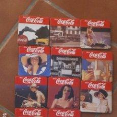 Coleccionismo de Coca-Cola y Pepsi: LOTE 11 POSAVASOS COCA COLA POSAVASOS DE CORCHO ORIGINALES . Lote 98810543