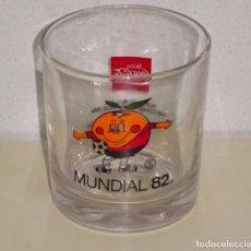 Collezionismo di Coca-Cola e Pepsi: VASO DE CRISTAL MUNDIAL FÚTBOL ESPAÑA 82 1982. NARANJITO COCA COLA Nº 5. 300 GR. Lote 99065087
