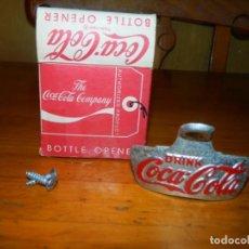 Coleccionismo de Coca-Cola y Pepsi: ABREBOTELLAS DE PARED EN CAJA ORIGINAL USA . Lote 99192623