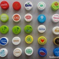 Coleccionismo de Coca-Cola y Pepsi: F-128 - LOTE 79 TAPONES BEBIDAS JAPÓN COCA COLA Y PEPSI . Lote 99547627
