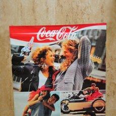 Coleccionismo de Coca-Cola y Pepsi: CARTEL POSTER ORIGINAL COCA COLA SENSACION DE VIVIR LOS 40 PRINCIPALES HERACLIO FOURNIER 1989. Lote 99968055