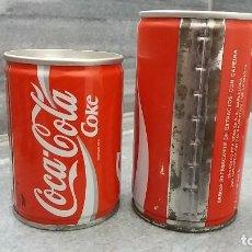 Coleccionismo de Coca-Cola y Pepsi: ANTIGUA LATA COCA COLA DE 25 CL Y 33 CL. LATAS ANTIGUAS DE LOS AÑOS 70 DE 2 TAPAS LATERAL SOLDADO . Lote 100022783