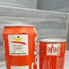 Coleccionismo de Coca-Cola y Pepsi: ANTIGUA LATA COCA COLA DE 15 CL Y 33 CL. LATAS ANTIGUAS BARCELONA Y SEVILLA JUEGOS OLÍMPICOS 92 EXPO. Lote 100024119