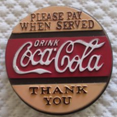 Coleccionismo de Coca-Cola y Pepsi: COCA COLA IMÁN. PRODUCTO ORIGINAL. EN PLÁSTICO DURO. Lote 100082519