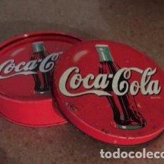 Coleccionismo de Coca-Cola y Pepsi: CAJITA METÁLICA CON 4 POSAVASOS DE COCA COLA. Lote 100758295