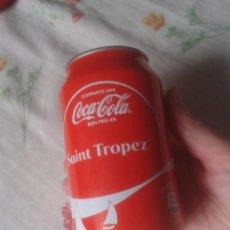 Coleccionismo de Coca-Cola y Pepsi: LATA DE COCA COLA COCACOLA COMPARTE UNA FRÍA EN SAINT TROPEZ FRANCIA FRANCE VER FOTOS Y DESCRIPCIÓN. Lote 101047755