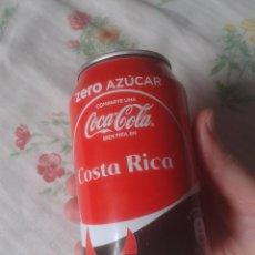 Coleccionismo de Coca-Cola y Pepsi: LATA DE COCA COLA COCACOLA COMPARTE UNA FRÍA EN COSTA RICA VER FOTOS Y DESCRIPCIÓN. ZERO AZUCAR IDEA. Lote 101064159