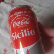 Coleccionismo de Coca-Cola y Pepsi: LATA DE COCA COLA COCACOLA COMPARTE UNA FRÍA LIGHT EN SICILIA ITALIA ITALY VER FOTOS Y DESCRIPCIÓN. . Lote 101064603