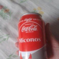 Coleccionismo de Coca-Cola y Pepsi: LATA DE COCA COLA COCACOLA COMPARTE UNA FRÍA LIGHT EN MICONOS MIKONOS GRECIA VER FOTOS Y DESCRIPCIÓN. Lote 101065151