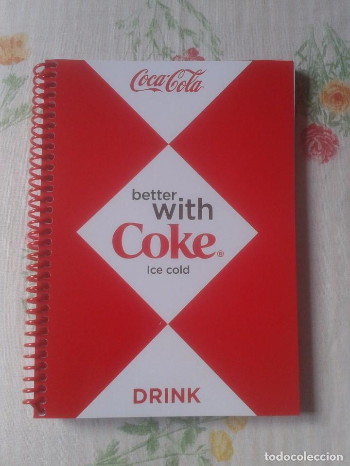 LIBRETA TIPO GUSANILLO CUADERNO O SIMILAR PUBLICIDAD COCACOLA COCA COLA COKE VER FOTOS Y DESCRIPCIÓN (Coleccionismo - Botellas y Bebidas - Coca-Cola y Pepsi)
