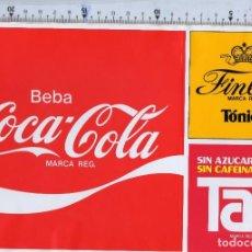 Coleccionismo de Coca-Cola y Pepsi: PEGATINA COCA COLA FINLEY TAB AÑOS 80. Lote 101164475