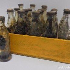 Coleccionismo de Coca-Cola y Pepsi: CAJA CON 20 BOTELLAS DE COCA COLA.MINIATURA .PUBLICITARIA. AÑOS 50. VER FOTOS. Lote 101255459