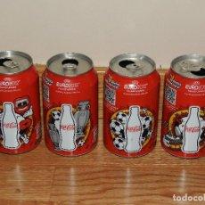 Coleccionismo de Coca-Cola y Pepsi: LOTE COMPLETO 4 DISEÑOS LATAS COCA COLA UEFA EURO 2012 . POLAND-UKRAINE COCACOLA. Lote 101384987