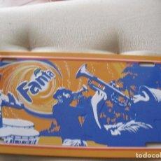 Coleccionismo de Coca-Cola y Pepsi: CHAPA FANTA MARCA DE COCA COLA COMPANY DE 30,5 X 15,5 NUEVA. Lote 101673087