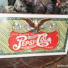 Coleccionismo de Coca-Cola y Pepsi: CARTEL DE PUBLICIDAD DE PEPSICOLA- PEPSI COLA. Lote 101929255